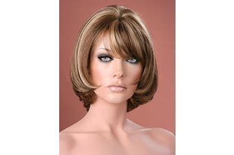 Forever Young UK Ladies Short Ash Brown with Blonde Highlights Bob Style Wig