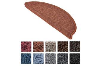 (Rust) - Beautissu 15 Set of Stair Pads ProStair 15.5 x 55 cm Step Carpet Non Slip Adhesive Rug/Mat for Stair Tread Rust
