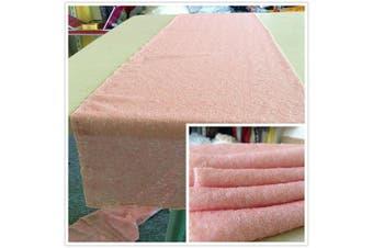 (Blush Pink) - TRLYC 30cm *150cm Sparkly Wedding Table Fabric Blush Pink Sequin Tablerunner