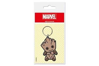 Marvel Comics Keychain Keyring For Fans - Kawaii, Groot (5.1cm x 5.1cm )