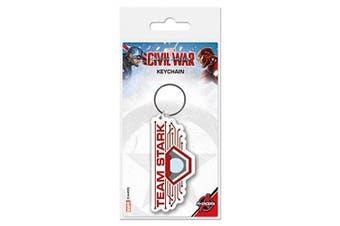 Captain America Keychain Keyring For Fans - Civil War, Team Stark (5.1cm x 5.1cm )
