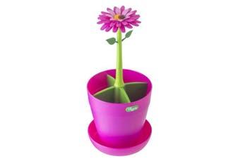 (Pink, Green, Flower Power) - VIGAR Flower Power - Cutlery Holder, Pink and Green