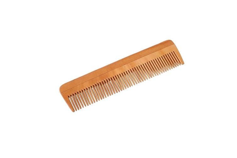 HealthAndYoga(TM) Handcrafted Neem Wood Comb - Anti Dandruff, Non-Static and Eco-friendly- Great for Scalp and Hair health -18cm Fine toothed