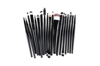 (Black) - AMarkUp 20 Pcs Pro Makeup Brushes Set Powder Foundation Eyeshadow Eyeliner Cosmetic Brush (Black)