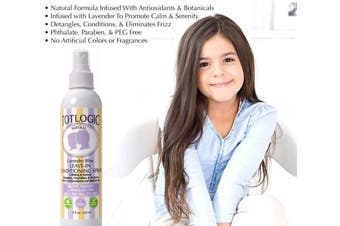 (Lavender) - TotLogic Kids Detangler Spray and Leave In Conditioner - Naturally Scented with Essential Oils - Lavender, 240ml