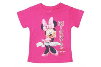 (3T, Pink) - Disney Toddler Girls Sassy Minnie Mouse T-Shirt