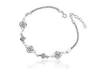 ladies. element silver Crystal Angel Love bracelets .for women girls.?f974?