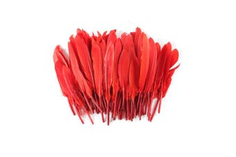 (Red) - Celine lin 100PCS Dyed Home Decor Goose Feather For Art,Home Party or Wedding 10cm - 15cm ,Red