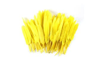 (Yellow) - Celine lin 100PCS Dyed Home Decor Goose Feather For Art,Home Party or Wedding 10cm - 15cm ,Yellow