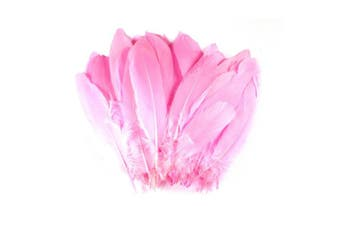 (Pink) - Celine lin 100PCS Dyed Home Decor Goose Feather For DIY Art,Home Party or Wedding 15cm - 20cm ,Pink
