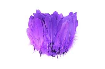 (Purple) - Celine lin 100PCS Dyed Home Decor Goose Feather For DIY Art,Home Party or Wedding 15cm - 20cm , Purple