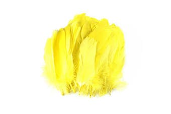 (Yellow) - Celine lin 100PCS Dyed Home Decor Goose Feather For DIY Art,Home Party or Wedding 15cm - 20cm ,Yellow