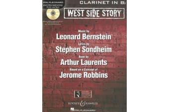 West Side Story Play-along: Solo Arrangements of 10 Songs with CD Accompaniment - Clarinet