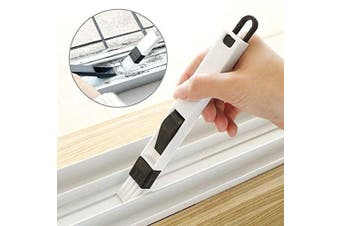 Shihua New Multifunction computer window cleaning brush window groove keyboard nook cranny dust shovel Window Track cleaner Black
