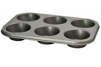 Ecolution 6 Cup Muffin/Cupcake Baking Pan, Grey, X-Large