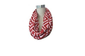 (Red & White Double Square) - Nursing Scarf and Breastfeeding Cover Up Hides Back Breast Pump Privacy