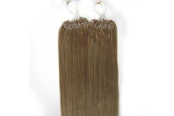 (41cm , 16 Ash Blonde) - 41cm 40g, 46cm 50g, 50cm 50g, 60cm 50g, 60cm 70g, 70cm 50g 100strands Indian Premier Remy Loop Micro Ring 100% Human Hair Extensions 5A* UK Seller (41cm , 16 Ash Blonde)