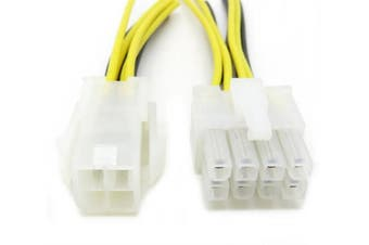 ATX 4 Pin Male to 8 Pin Female EPS Power Supply Cable Adapter Convertor P4PM 12v