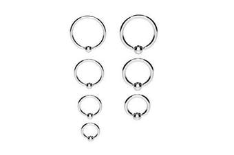 Surgical Steel Ball Closure Captive Ring Bcr Lip Nose Ear Tragus