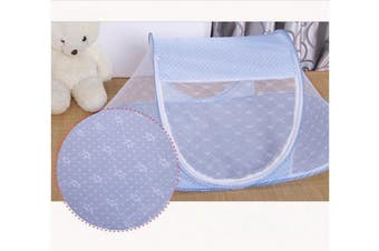 (Blue) - CdyBox Portable Travel Baby Tent Pop Up Playpen Instant Mosquito Net (Blue)
