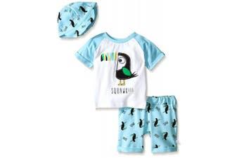 (Little Boys, 12 Months, Petite Four) - Baby Boys' Toucan 3 Piece Set With Hat