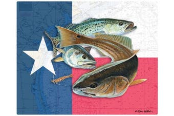 (Texas Flag & Bully) - Magic Slice Texas Flag & Bully by Steve Whitlock Non-Slip Flexible Cutting Board, Multicolor, 30cm x 38cm