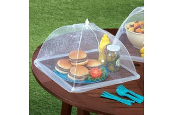 ABOEL - (Set of 4) Large Pop-Up Mesh Screen Food Cover Tents - Keep Out Flies, Bugs, Mosquitos - Reusable