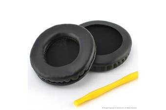 (PU) - TECHNICS RP-DH1200 DJ, Sennheiser HD205, HD205II, HD215, HD225, SONY MDR-V700, Z700, V700DJ, ATH-T2,ATH-PRO700 Headphones Replacement Ear Pad / Ear Cushion / Ear Cups / Ear Cover / Earpads Repair Parts (Black Leather)