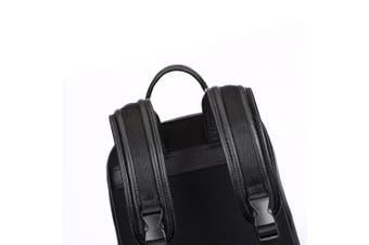 (Black) - Bison Denim Real Genuine Leather Backpack Fashion School Camping Travel Bag Shoulder Laptop Rucksack for men and women