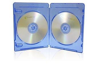 50 x Double (2) Disc Blu-Ray 11mm Storage Cases With Logo - Dragon Trading® Branded