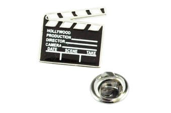 Movie Clapperboard Lapel Pin Badge