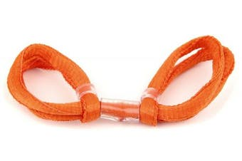 (Burnt Orange, Double Loop) - ArrowSocks Delux Archery Finger Sling/Bow Sling for use with Recurve or Compound bows