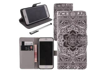 For Apple iPhone 6 / iPhone 6S (12cm ), Urvoix(TM) PU Leather Wallet Case Flip Cover [Flower] w/ Stand Feature / Magnetic Closure / ID Credit Card Cash Holder (NOT for 6Plus)