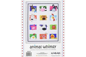 Amy Bradley Designs ABD258 Animal Whimsy Quilt Pattern, Colour Varies