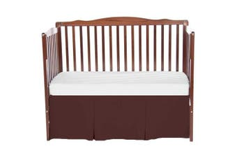 bkb Solid Tailored Mini Crib Skirt, Brown