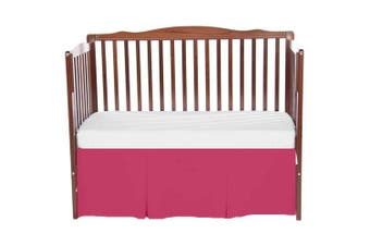 bkb Solid Tailored Mini Crib Skirt, Hot Pink