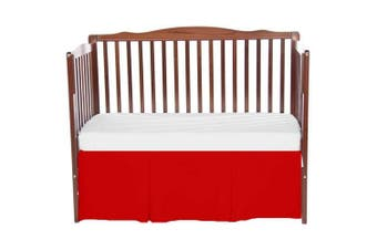bkb Solid Tailored Mini Crib Skirt, Red