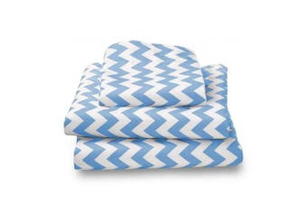 bkb Chevron Toddler Sheet Set, Blue
