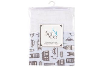 Kushies Baby Ben & Noa Change Pad with Terry Insert Percale Sheet, Blue City