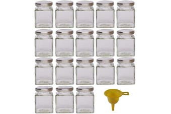 (18 pieces, 106ml, Deckel Silber) - Viva Haushaltswaren jam jars/spice jar, Glass, Deckel Silber, 106ml