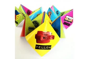 80s Party Table Decorations - 10 x Paper Click Clacks - Ready to Make