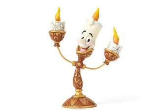 "(Ooh La La Lumiere) - Enesco Disney Traditions by Jim Shore ""Beauty and the Beast"" Lumiere Stone Resin Figurine, 4.75"""