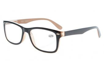 (+3.00, Black-Brown) - Eyekepper Readers Spring-Hinges Quality Classic Vintage Style Reading Glasses Black-Brown +3.0
