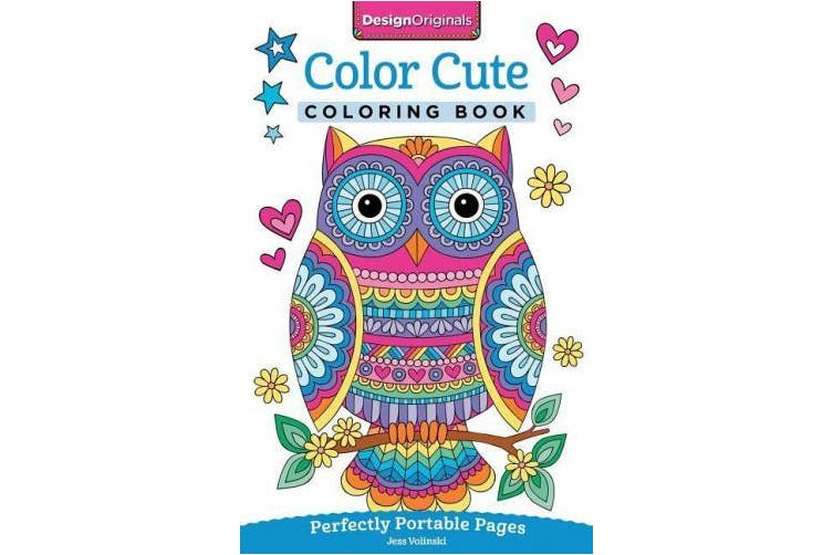 Color Cute Coloring Book: Perfectly Portable Pages (On the Go Coloring Book)