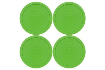 (4) - Pyrex 7402-PC Round 6/7 Cup Storage Lid for Glass Bowls (4, Green)