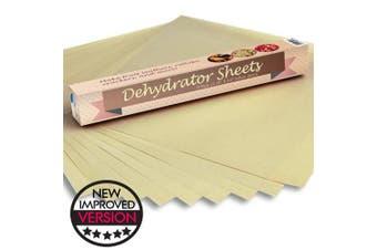 Food Dehydrator Teflon Baking Sheets - Set of 9 Premium 36cm X 36cm Non Stick Teflon Dehydrators Cookie Dryer Sheets For Excalibur 2500 3500 2900 or 3900 Dehidrator Sheet By Chuzy Chef