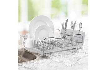 (3-piece) - Polder KTH-625-754RM Advantage Dish Rack, Frosted - 3 Piece