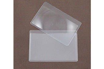 4 PCS Fresnel Lens Card Magnifier, For Reading or For Fire Starter,