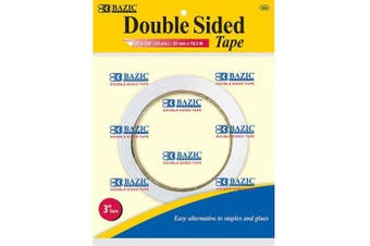BAZIC 2.5cm X 20 Yard (1830cm ) Double Sided Tape, Box Pack of 12