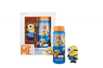 (UNI, Blue) - Minions Despicable Me Kids Water toy & Shampoo Bubble Bath Squirter Set - blue